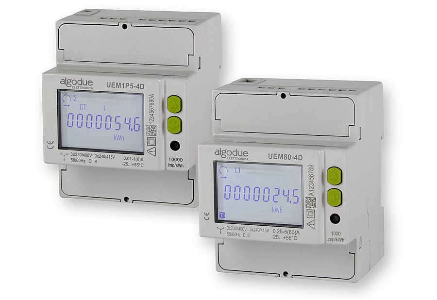Single, three-phase energy meters